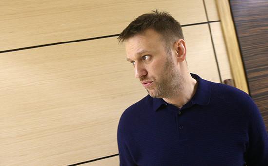Оппозиционер Алексей Навальный вофисе Фонда борьбы скоррупцией. Архивное фото