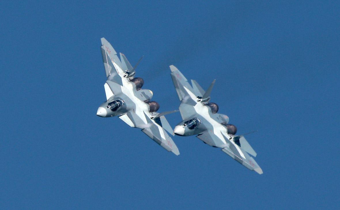 Истребители Су-57. Архивное фото