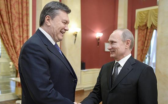 Бывший президент Украины Виктор Янукович ипрезидент РФВладимир Путин