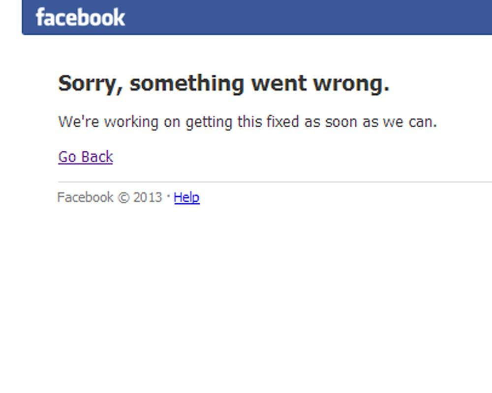 Сбой в работе социальной сети Facebook продлился 25 минут