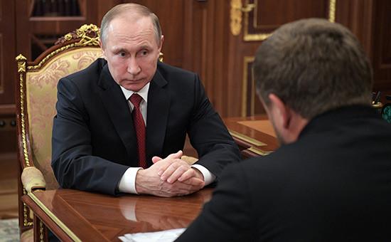 Владимир Путин иРамзан Кадыров