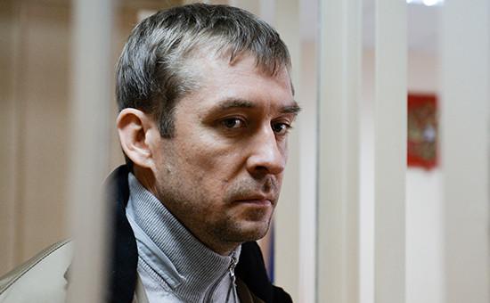 Врио начальника управления «Т» антикоррупционного главка МВД РФ Дмитрий Захарченко вПресненском суде, гдерассматривается ходатайство следствия о его аресте. 10 сентября 2016 года