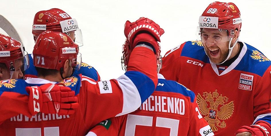 Российские хоккеисты разгромили белорусов в контрольном матче