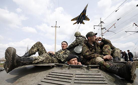 Украинские военные, апрель 2014 год