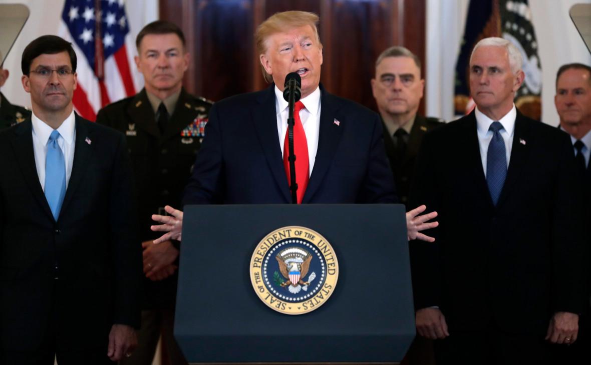 Трамп пообещал «мощные санкции» против отступившего Ирана