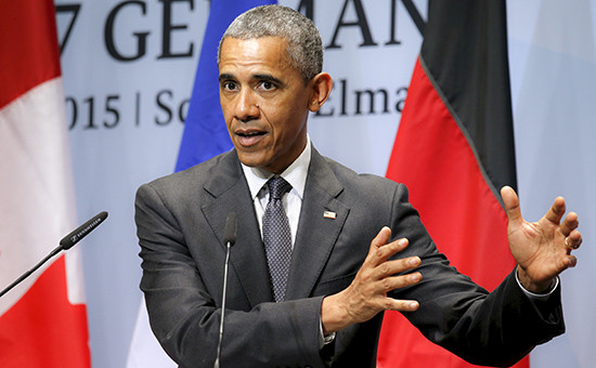 Президент США Барак Обама на саммите стран «большой семерки» (G7), который проходит в Баварских Альпах