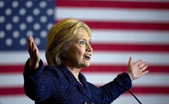 Кандидат впрезиденты США отДемократической партии Хиллари Клинтон