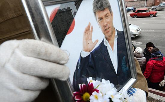 На церемонии прощания с Борисом Немцовым, март 2015 года