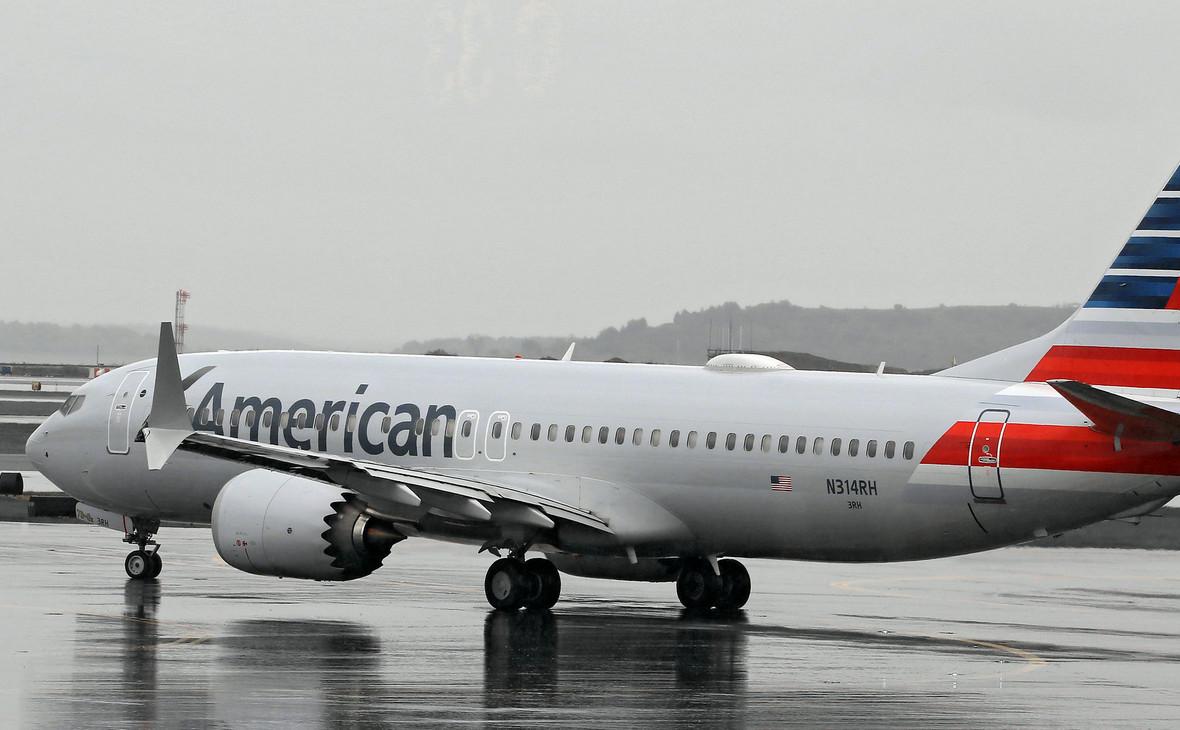 Принадлежащий авиакомпании American Airlines самолет Boeing 737 MАХ