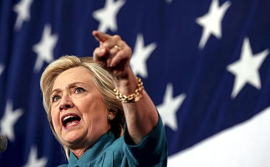 Кандидат на пост президента США от демократов Хилари Клинтон
