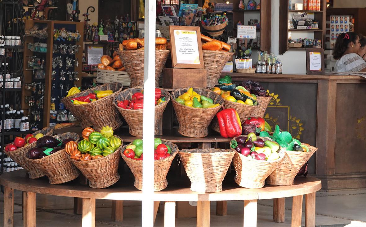 Магазин с мексиканскими товарами на острове Косумель в Мексике