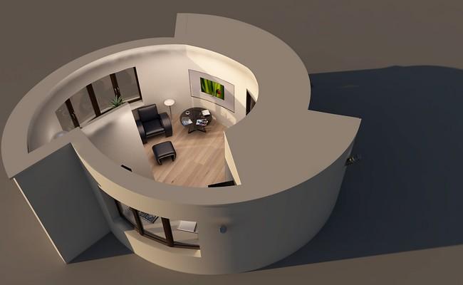 Визуализация дома, которыйдолжны распечатать на3D-принтере