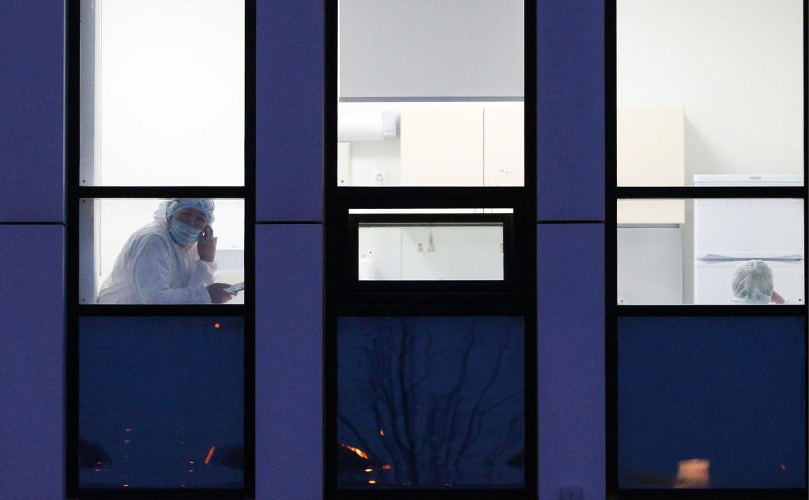 Больница в Коммунарке, где находятся пациенты с подозрением на коронавирус