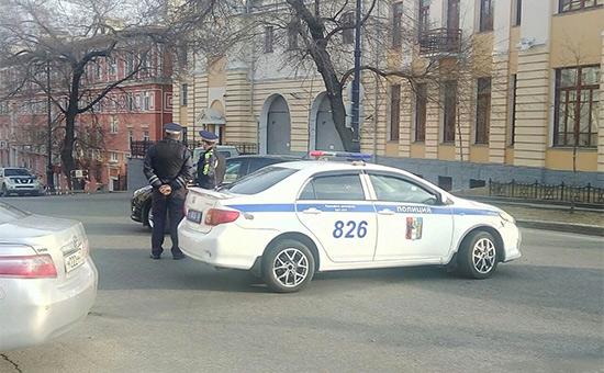 Сотрудники полиции вХабаровске