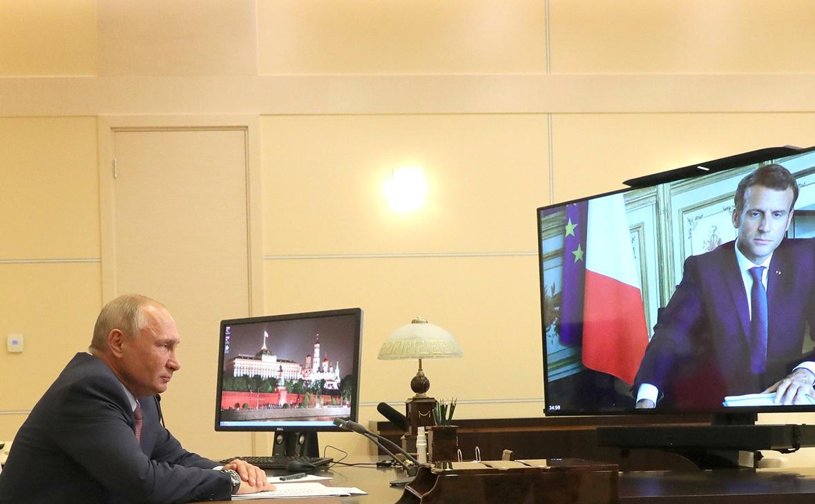 Беседа Владимира Путина с Эммануэлем Макроном