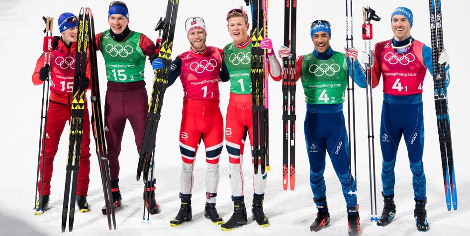 Российские лыжники выиграли серебро в командном спринте на Олимпиаде