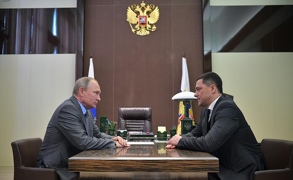 Михаил Ведерников на встрече с Владимиром Путиным