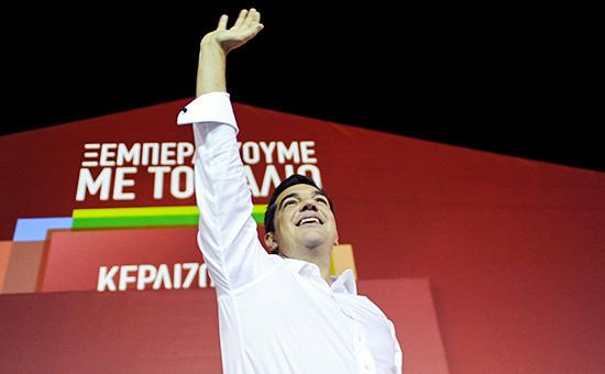 Лидер леворадикального движения СИРИЗА Алексис Ципрас