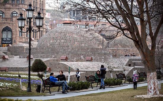 Вид настарую часть города Тбилиси