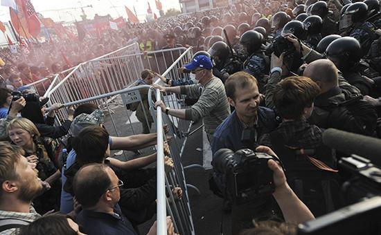 Во время акции «Марш миллионов» на Болотной площади 6 мая 2012 года