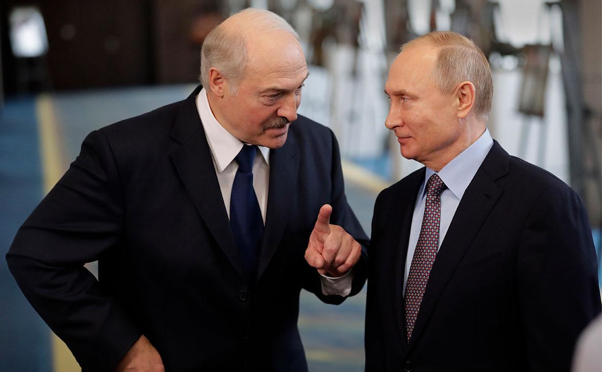 Путин и Лукашенко встречаются в Сочи.