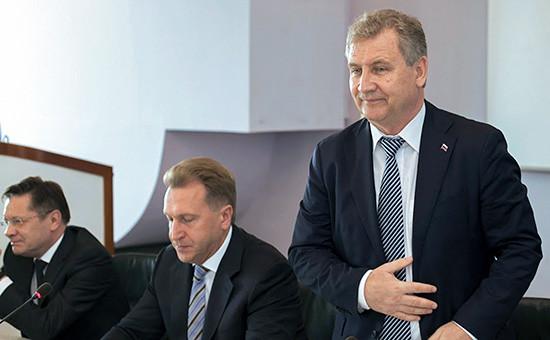 Первый заместитель председателя правительства РФ Игорь Шувалов представил нового главу Роспатента ГригорияИвлиева