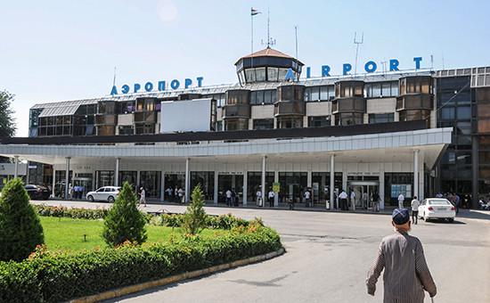 Вид на аэропорт городаДушанбе вТаджикистане