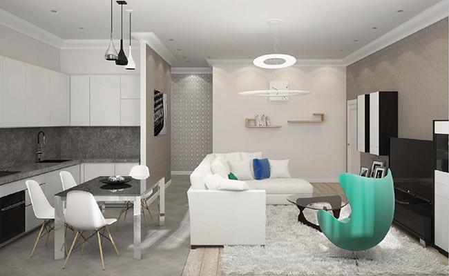 Вариант дизайна квартиры сготовой отделкой отзастройщика