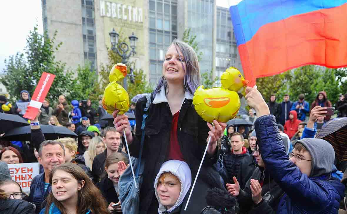 Митинг в поддержку Навального в Москве