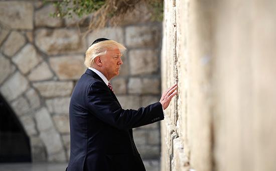 Дональд Трамп уСтены плача вИерусалиме