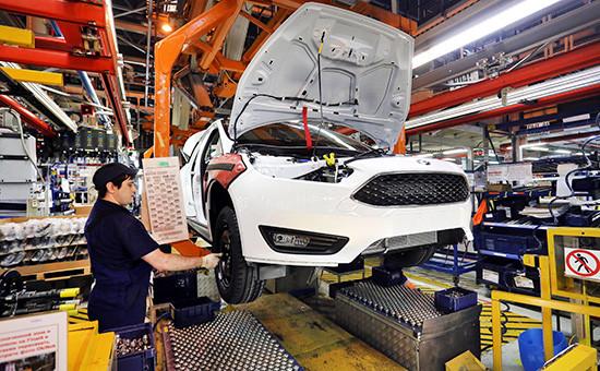 Цех сборки модели Ford Focus на заводе Ford Sollers