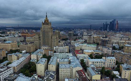 Москва, вид на Запад, на здание МИД России
