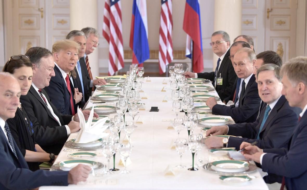 Встреча Владимира Путина и Дональда Трампа в Хельсинки в июле 2018 года