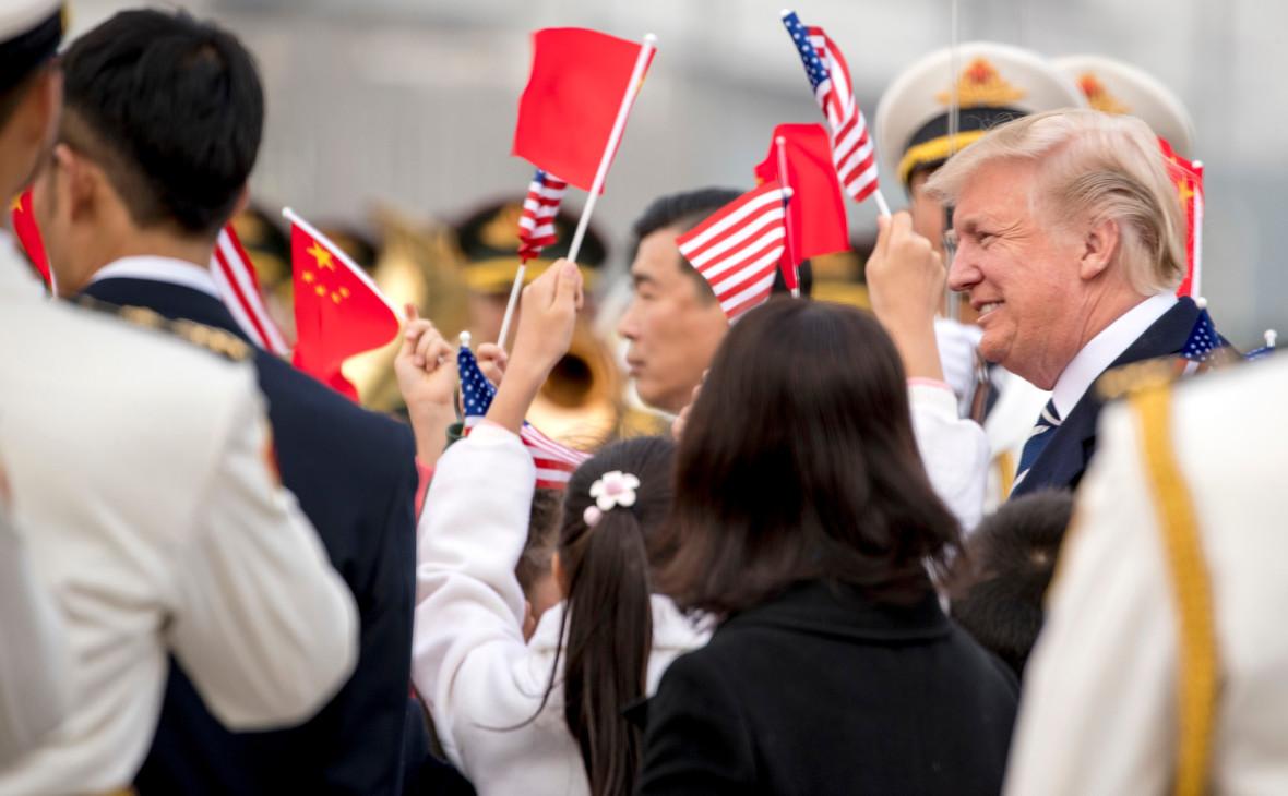 Дональд Трамп во время рабочей поездки в Китай