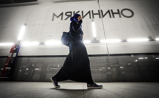На станции «Мякинино» Арбатско-Покровской линии Московского метрополитена
