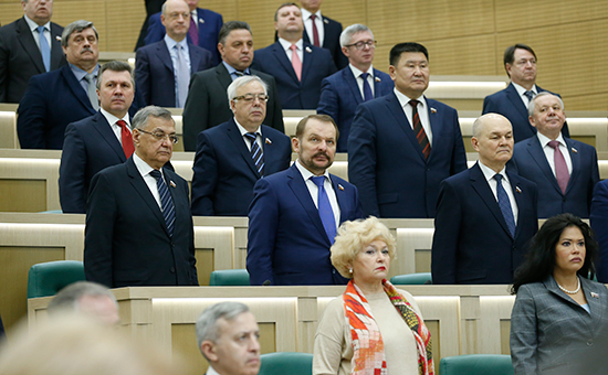 Пленарное заседание Совета Федерации