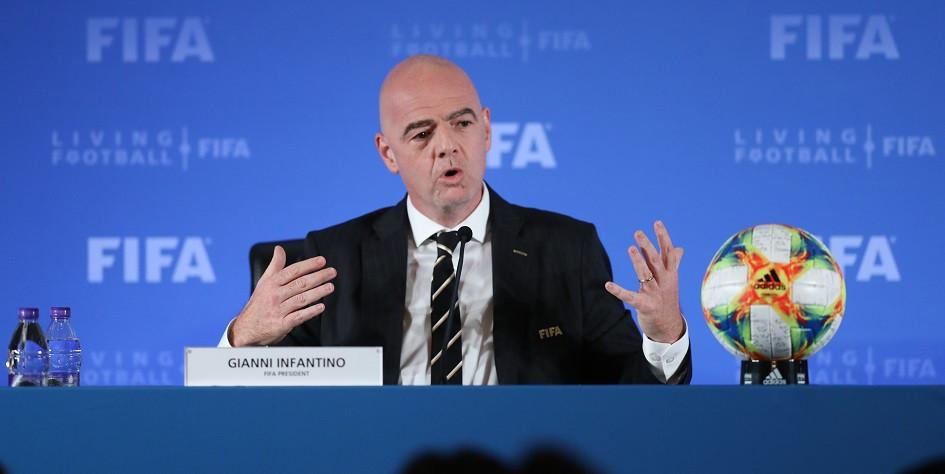 Президент ФИФА Джанни Инфантино
