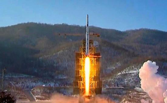 Космодром Сохэ. Запуск ракеты-носителя «Ынха-3». Архивное фото
