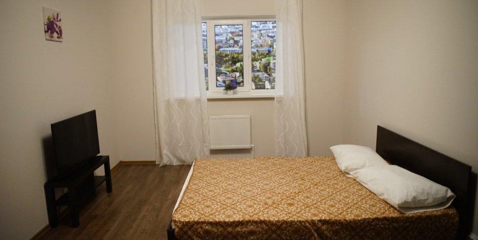 Типовой интерьер квартиры для переселенцев из хрущевок. Снимок сделан в шоу-руме, который подготовила московская мэрия