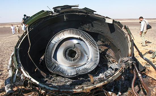 Место крушения российского самолета Airbus A321 в Египте. Ноябрь 2015 года