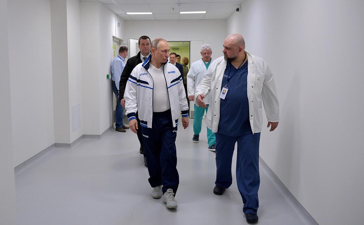 Владимир Путин и Денис Проценко (справа)