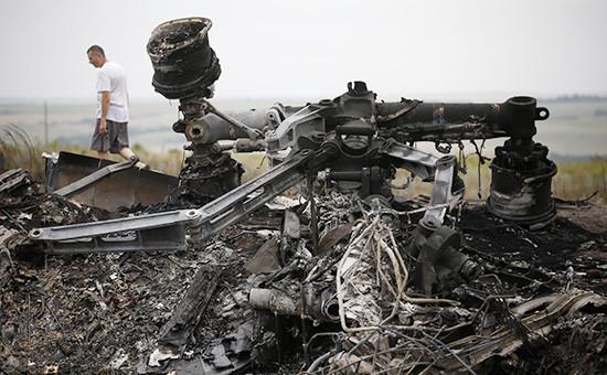Обломки самолета Malaysia Airlines. Архивное фото