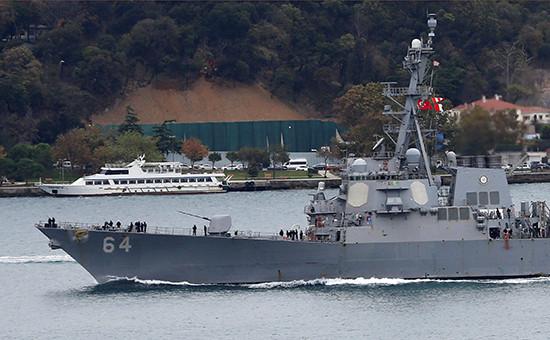 Эскадренный миноносец ВМС США Carney. Стамбул, 24 октября 2016 года