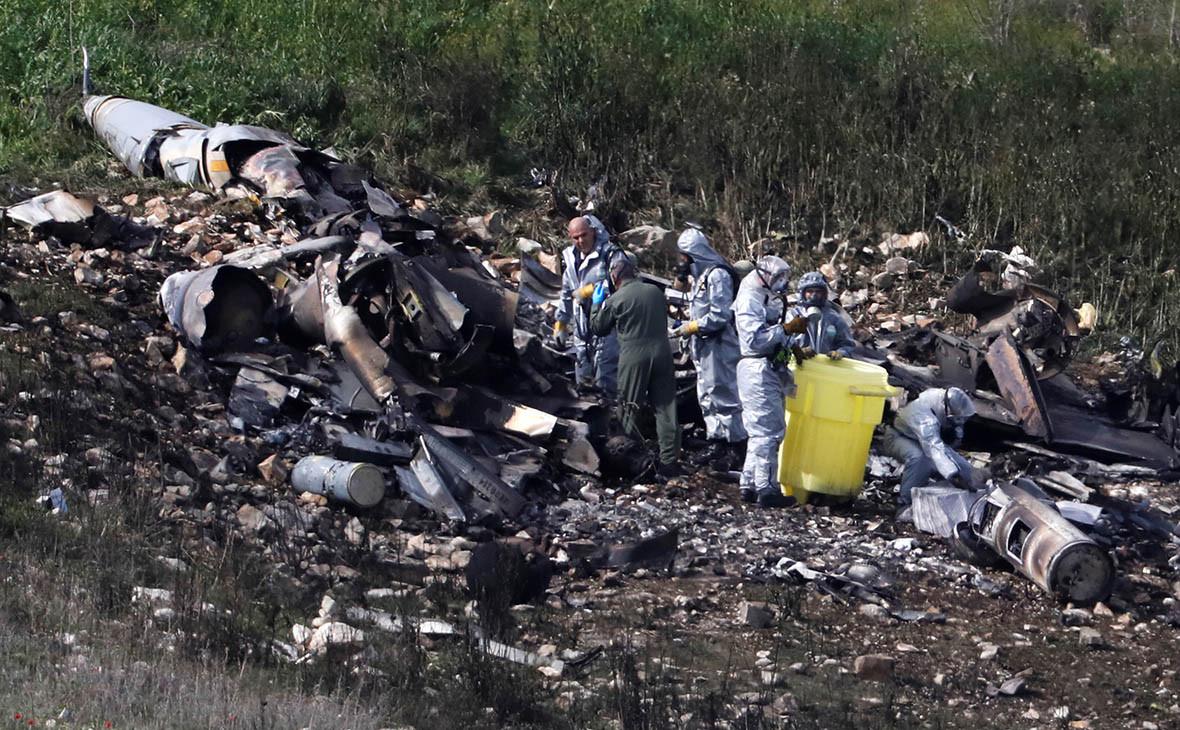Сбитый F-16 ВВС Израиля