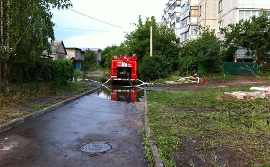 Во время потопа в Воронеже