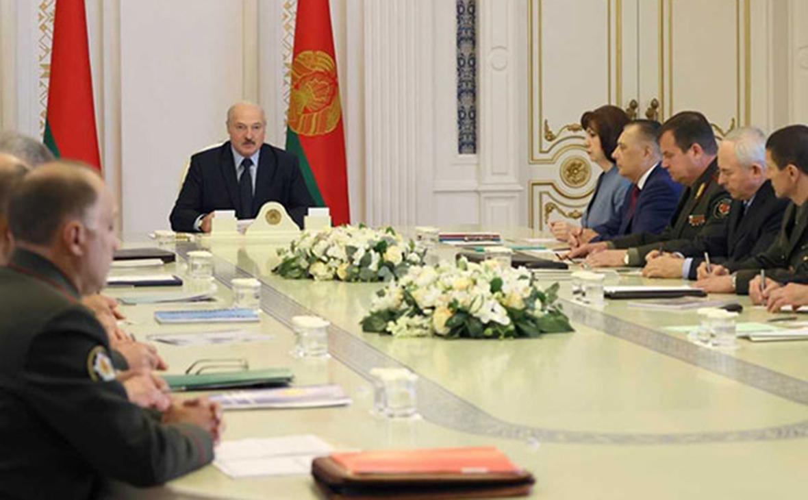 Александр Лукашенко на совещании по обеспечению безопасности избирательной кампании