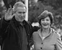 Фото:Джордж и Лаура Буш