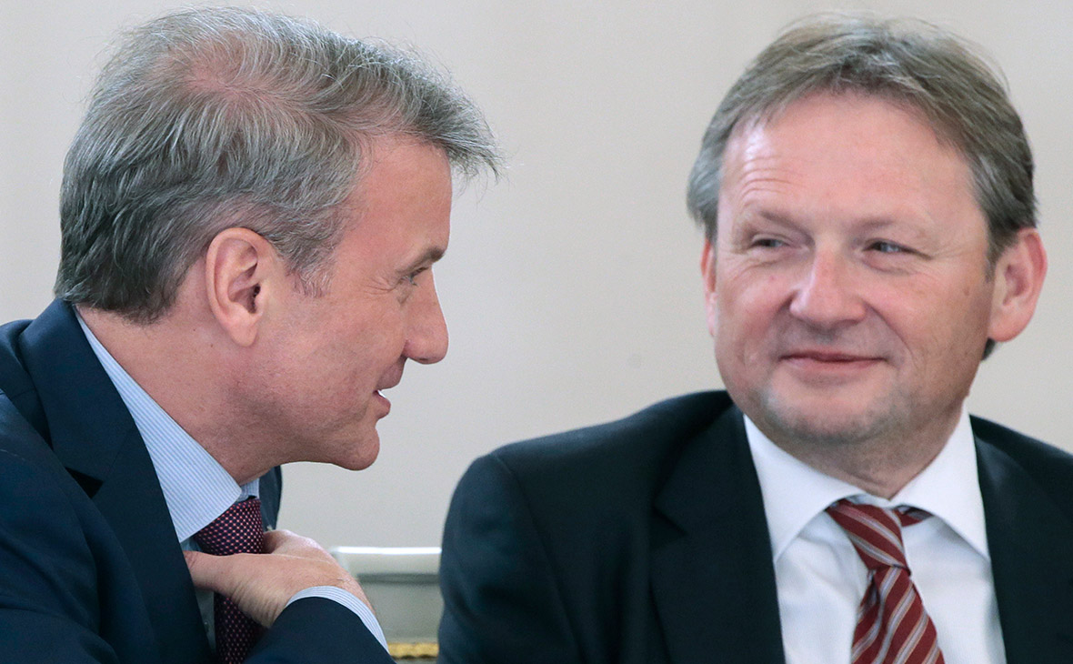 Герман Греф и Борис Титов (слева направо)