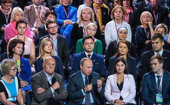 Президент РФ Владимир Путин на пленарном заседании форума Общероссийского народного фронта (ОНФ) «За качественную и доступную медицину!»