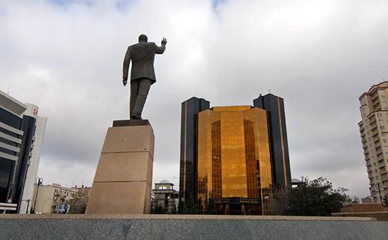 Вид на Центробанк Азербайджана